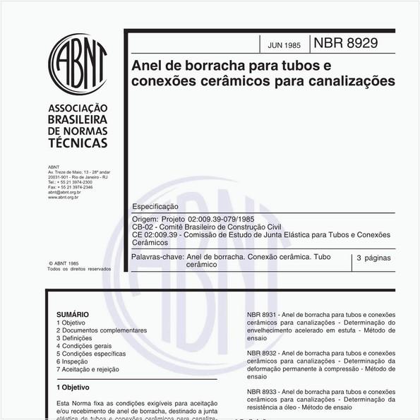 NBR8929 de 06/1985