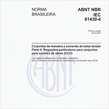 NBRIEC61439-4 de 03/2019