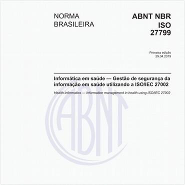 NBRISO27799 de 04/2019