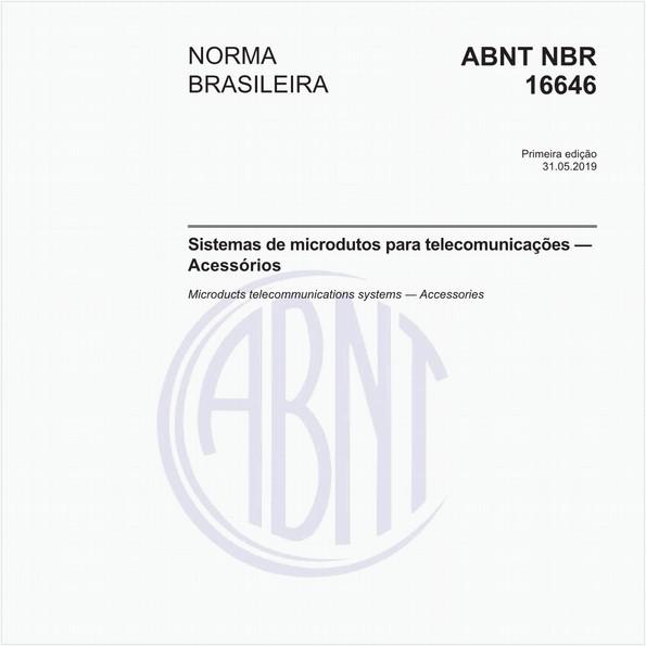 Sistemas de microdutos para telecomunicações — Acessórios