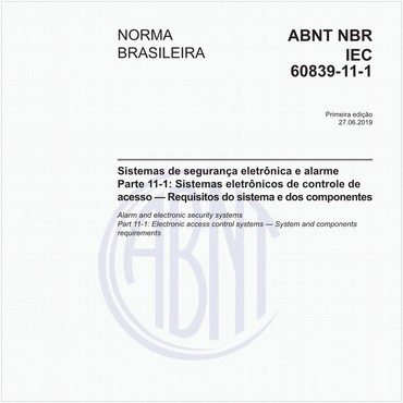 NBRIEC60839-11-1 de 06/2019