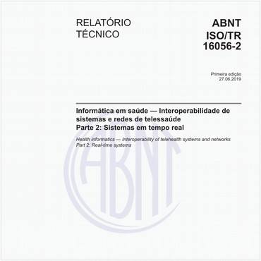 ABNT ISO/TR16056-2 de 06/2019
