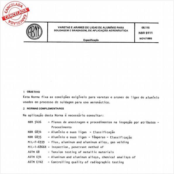 Varetas e arames de ligas de alumínio para soldagem e brasagem, de aplicação aeronáutica