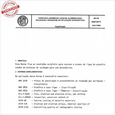 NBR9111 de 11/1985