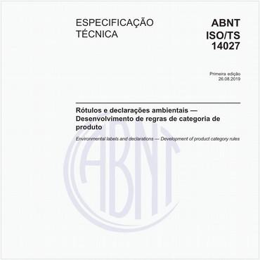 ABNT ISO/TS14027 de 08/2019