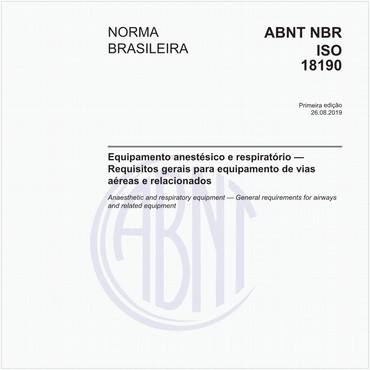 NBRISO18190 de 08/2019
