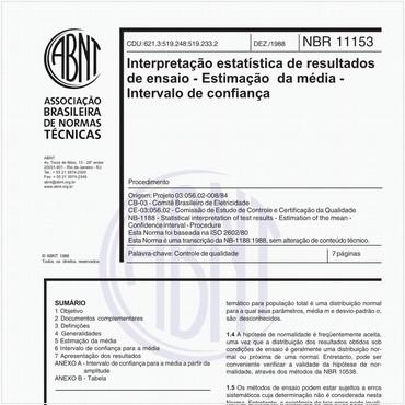 NBR11153 - COMENTADA de 12/1988