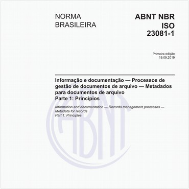 NBRISO23081-1 de 09/2019