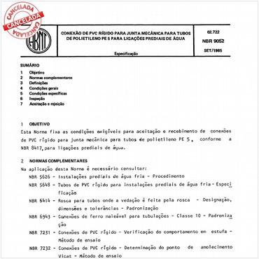 NBR9052 de 09/1985