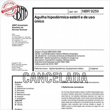 NBR9259 de 04/1997