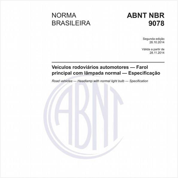 Veículos rodoviários automotores - Farol principal com lâmpada normal - Especificação