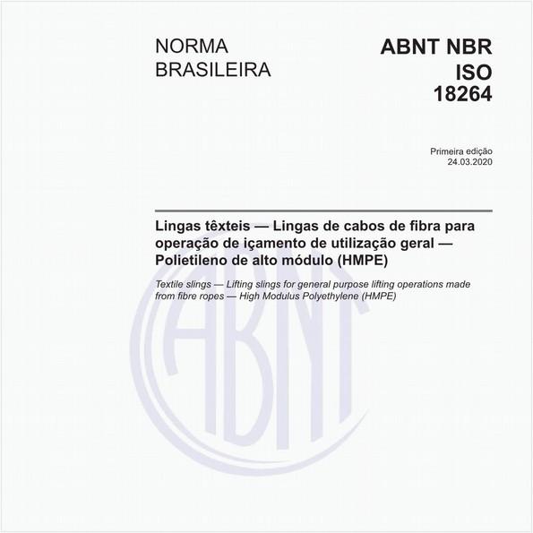 Lingas têxteis - Lingas de cabos de fibra para operação de içamento de utilização geral - Polietileno de alto módulo (HMPE)