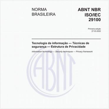 NBRISO/IEC29100 de 03/2020