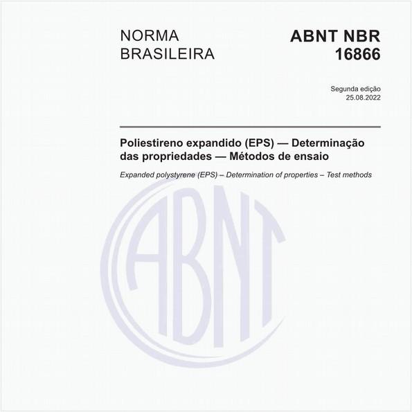 Poliestireno expandido (EPS) — Determinação das propriedades — Métodos de ensaio