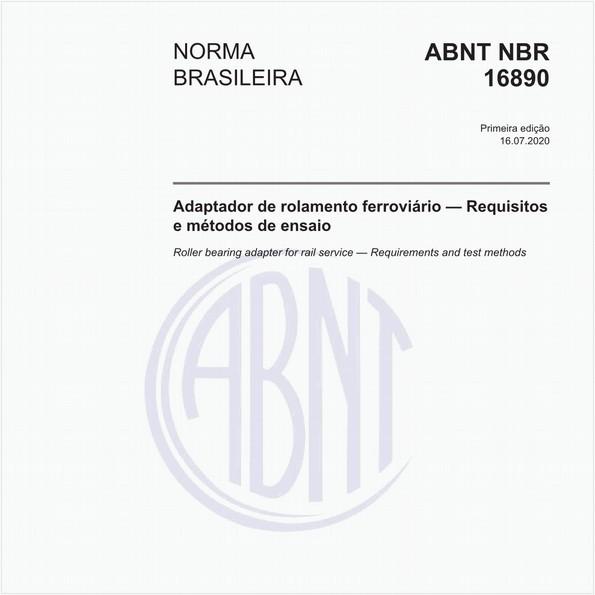 Adaptador de rolamento ferroviário — Requisitose métodos de ensaio