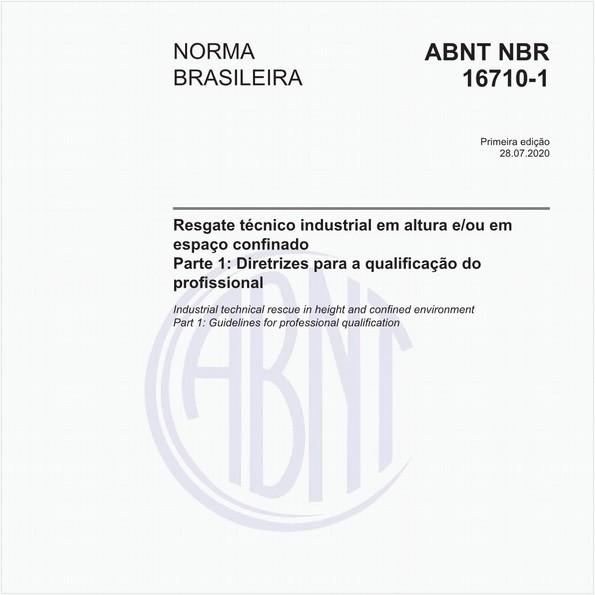 Resgate técnico industrial em altura e/ou em espaço confinado - Parte 1: Requisitos para a qualificação do profissional