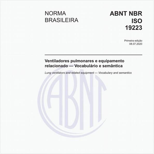 Ventiladores pulmonares e equipamento relacionado — Vocabulário e semântica