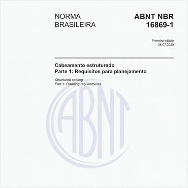 NBR16869-1 de 07/2020