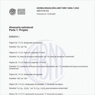 NBR16868-1 de 08/2020