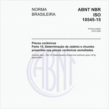 NBRISO10545-15 de 07/2020
