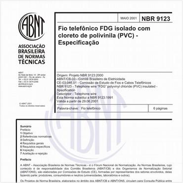 NBR9123 de 05/2001