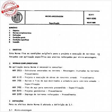 NBR9285 de 03/1986
