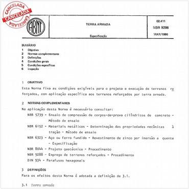 NBR9286 de 03/1986