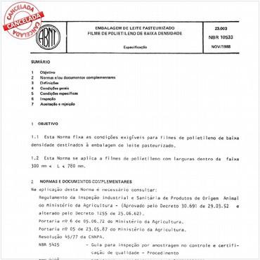 NBR10533 de 11/1988