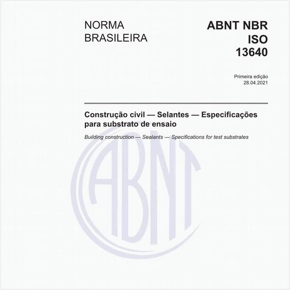 Construção civil - Selantes - Especificações para substrato de ensaio
