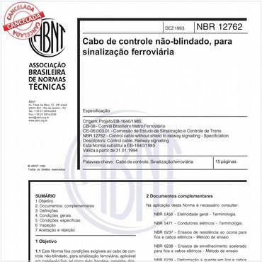 NBR12762 de 12/1993