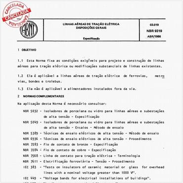 NBR9319 de 04/1986