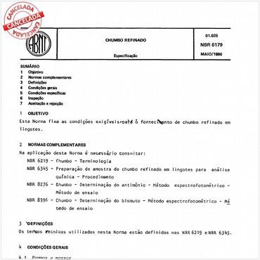 NBR6179 de 05/1986