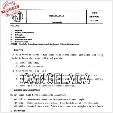 NBR9519 de 09/1986