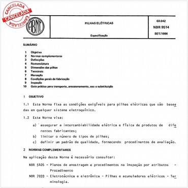 NBR9514 de 09/1986