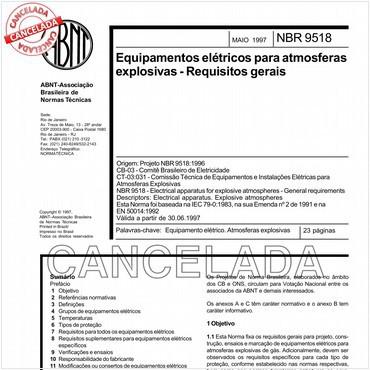 NBR9518 de 05/1997