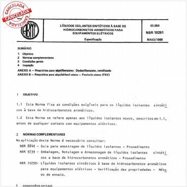NBR10291 de 05/1988