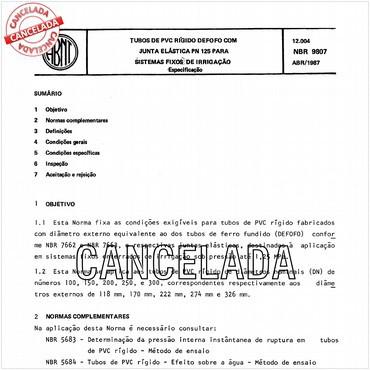 NBR9807 de 04/1987