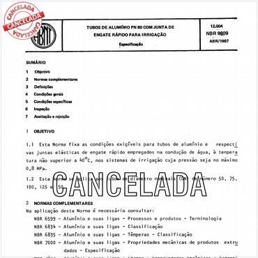 NBR9809 de 04/1987