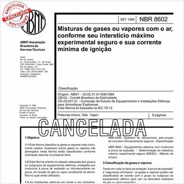 NBR8602 de 09/1984