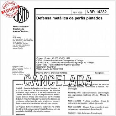 NBR14282 de 02/1999