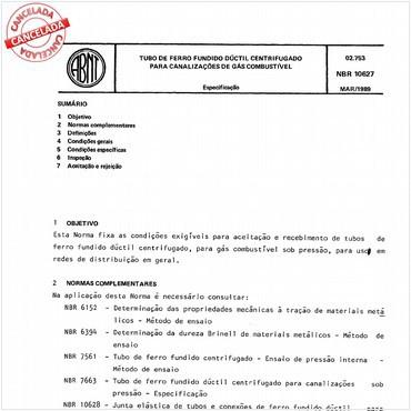 NBR10627 de 03/1989