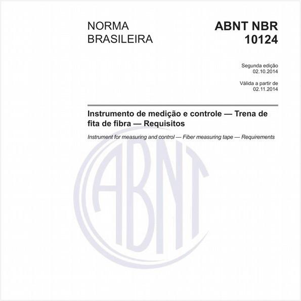 Instrumento de medição e controle - Trena de fita de fibra - Requisitos
