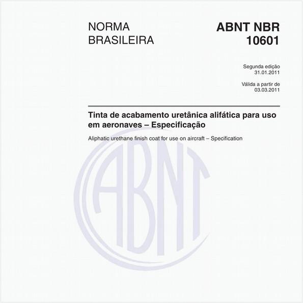 Tinta de acabamento uretânica alifática para uso em aeronaves - Especificação