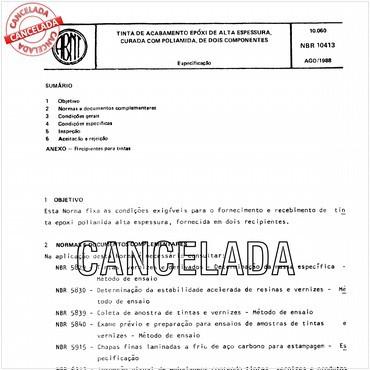 NBR10413 de 08/1988