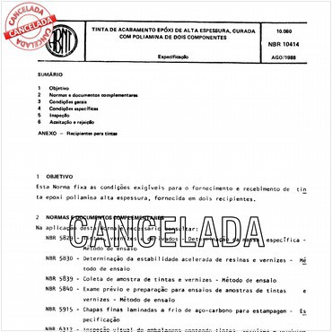 NBR10414 de 08/1988