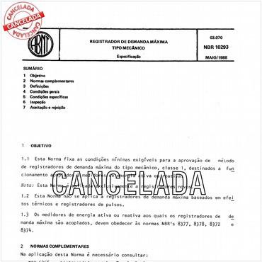NBR10293 de 05/1988