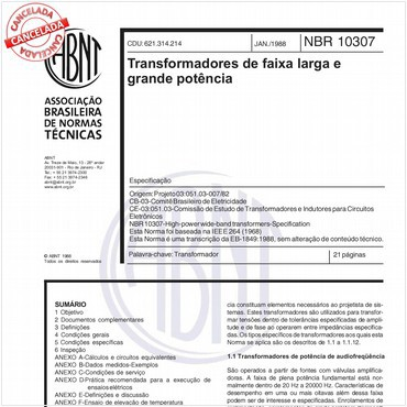 NBR10307 de 01/1988