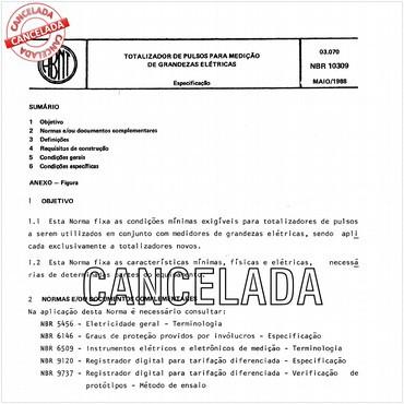 NBR10309 de 05/1988