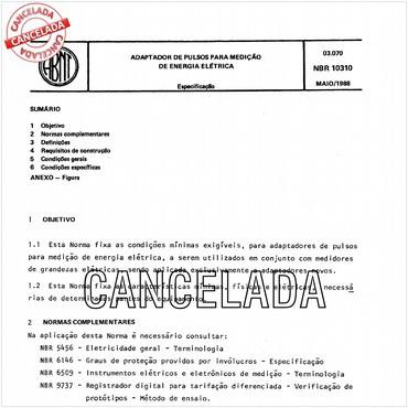 NBR10310 de 05/1988