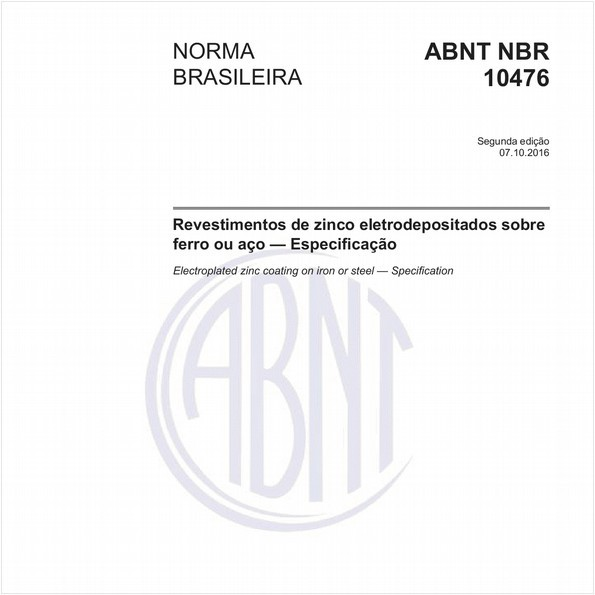 Revestimentos de zinco eletrodepositados sobre ferro ou aço — Especificação